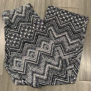 Alyx Black & White Printed Palazzo Pants size XL